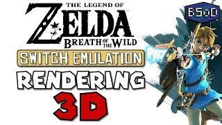 Zelda Breath of the Wild Goes In Game on Nintendo Switch Emulator - Rendering 3D