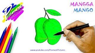Mangga Cara Menggambar Dan Mewarnai Gambar Buah Buahan Untuk Anak Anak Youtube
