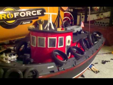 RC Sea Port Harbor Tug conversion Bay Area Electric Boaters