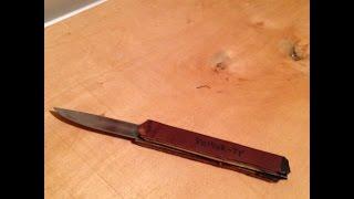 Мусорное искусство:КаК сделать перочинный нож из подручных средств