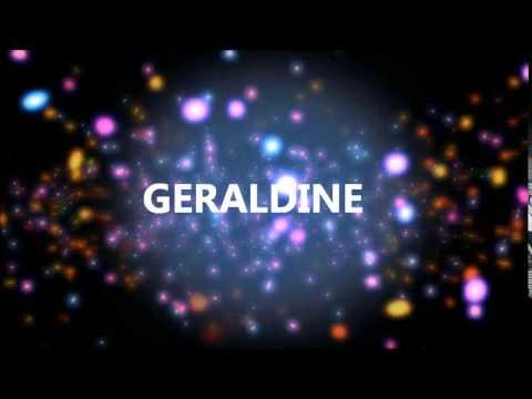 Joyeux Anniversaire Geraldine Youtube
