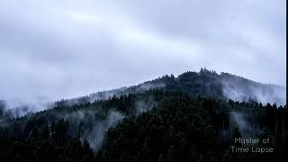79 Time Lapse Black Forest Mountains Foggy Rain | Zeitraffer Schwarzwald Berge Regen Nebel 4K