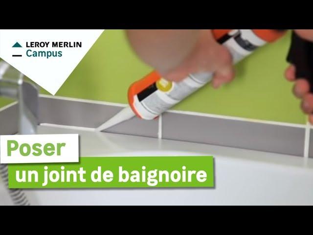 Comment Poser Un Joint De Baignoire Leroy Merlin Youtube