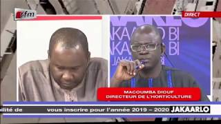 Directeur de l'horticulture Macoumba Diouf dans Jakaarlo bi du17/01/2020
