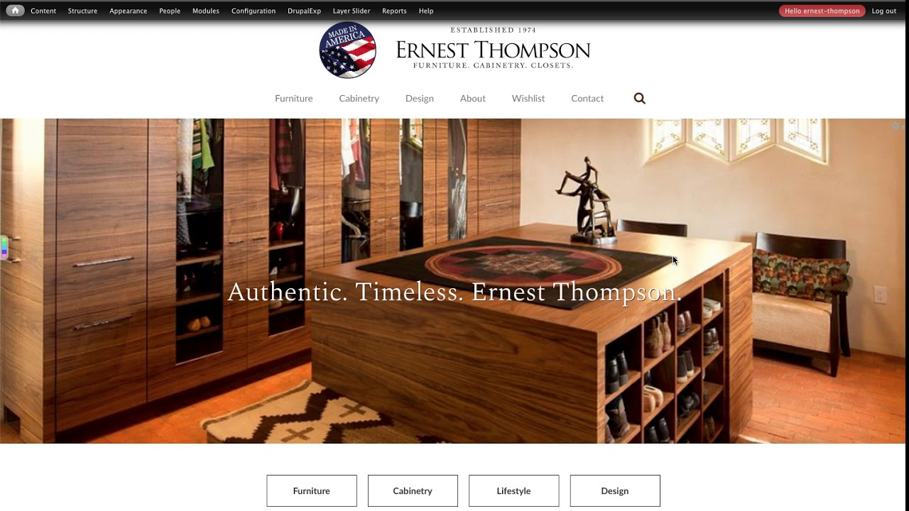 Ernest Thompson Tutorial   Logging In And Out Of Site