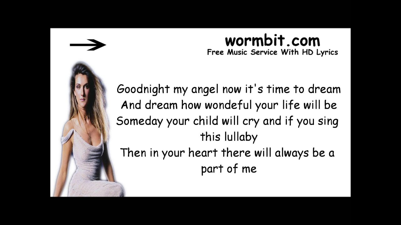 CELINE DION - BRAHMS' LULLABY LYRICS