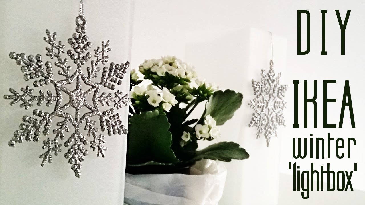 DIY Ikea Winter Lightbox Hack: How to Assemble and Decorate Grönö ...