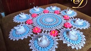 Вяжем Красиво Салфетку Крючком в Объеме - 2019 / Beautifully Crocheted Knit napkin in Volume