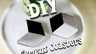 DIY Geometric Cement Coasters