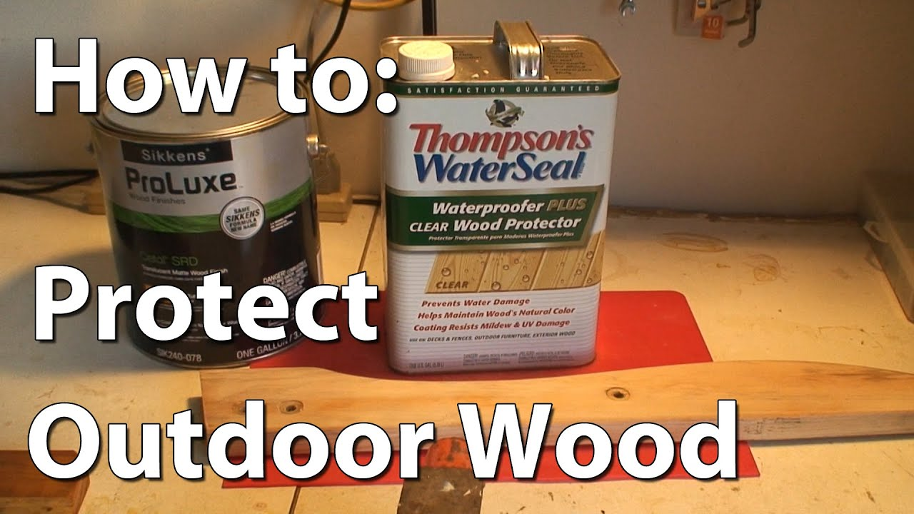 Bon How To Protect Outdoor Wood With Sikkens Wood Stain   YouTube