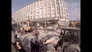 """Demolition ТЦ """"Пирамида"""" сносят на Пушкинской площади в Москве"""