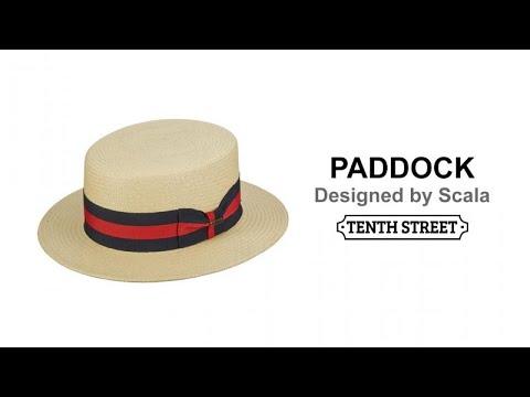 90eadf784e34b Scala Panama Boater Hand Woven - PADDOCK. Tenth Street Hats
