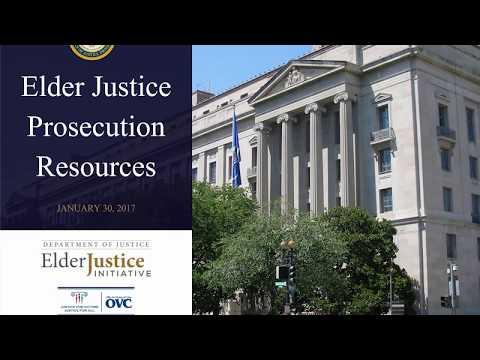 Elder Justice Prosecution Resources Recorded Webinar