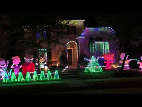 Christmas light show for Light of Christmas feat. Owl City by Toby Mac