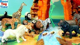 Takara Tomy Ania Mountain Adventure Playset with Toy Wild Animals - Fun Toys For Kids