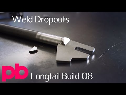 Longtail Bicycle Frame Build 08 - TIG Weld Dropouts