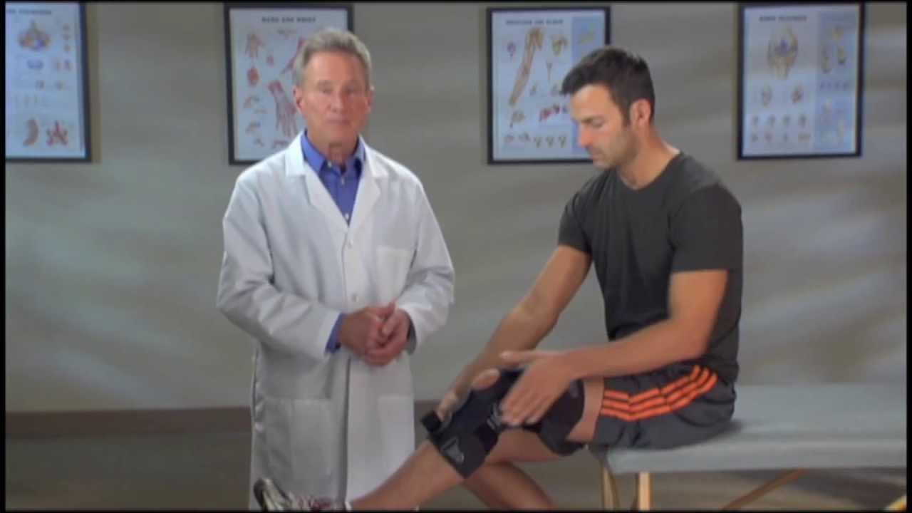 8fad593d20 Breg Freestyle Osteoarthritis Knee Brace | Medial or Inner Knee Pain Brace  - YouTube
