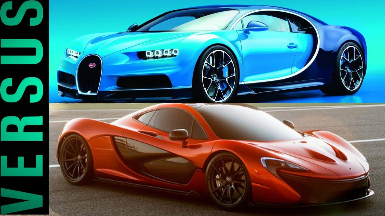 mclaren p1 vs bugatti veyron. bugatti chiron vs mclaren p1 veyron v