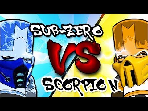 Sub-Zero VS Scorpion CHALLENGE - Castle Crashers Co-Op Gameplay | MKX PARODY!