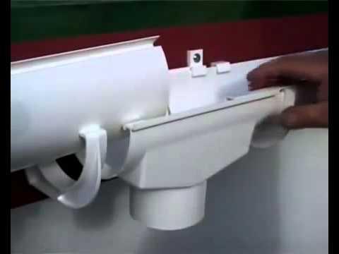 Монтаж пластиковой водосточной системы PLASTMO