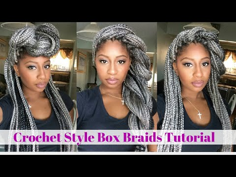 Crochet Box Braids Tutorial : Crochet Box Braids Tutorial- Grey Hair