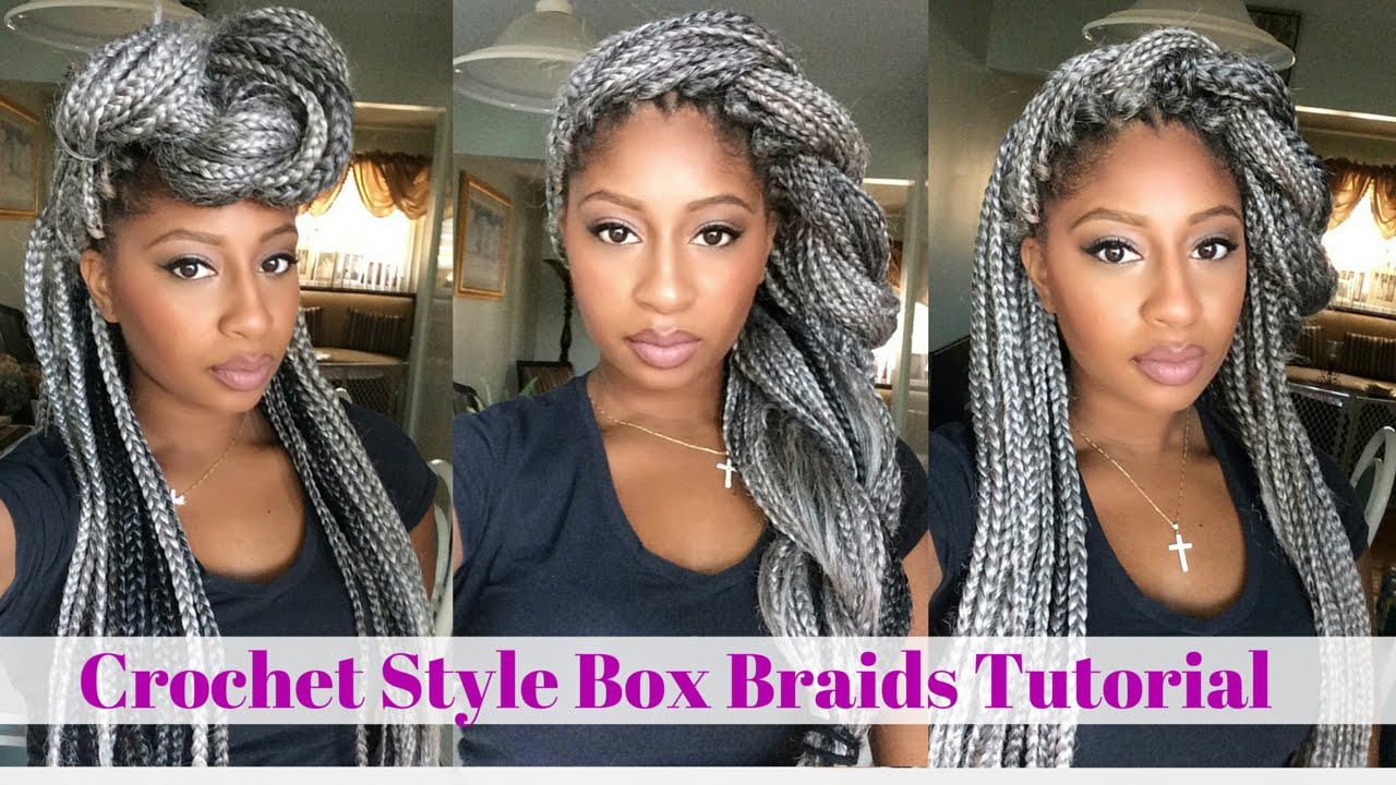 Crochet Box Braids Tutorial- Grey Hair - YouTube