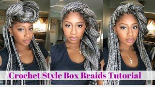 crochet box braids tutorial grey hair