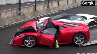 Ferrari Crash Compilation - 2017 - HD