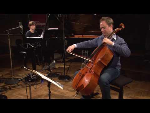 Bach : Sonate BWV 1027 (andante) par Henri Demarquette (violoncelle) et Thomas Enhco (piano)