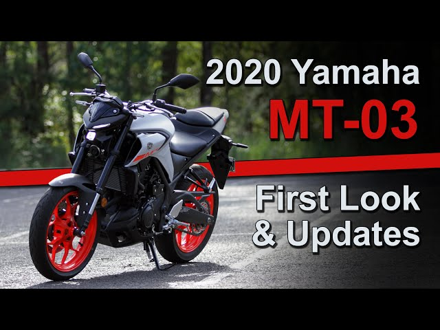 2020 Yamaha MT-03 - First Look & Updates