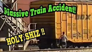 Massive Train Derailment! Caught on film!