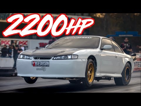 2200HP 240sx on 80lbs of Boost - Mind Blowing Speed!