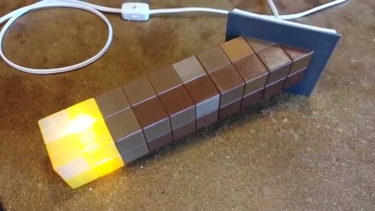Finished minecraft torch nightlight youtube audiocablefo