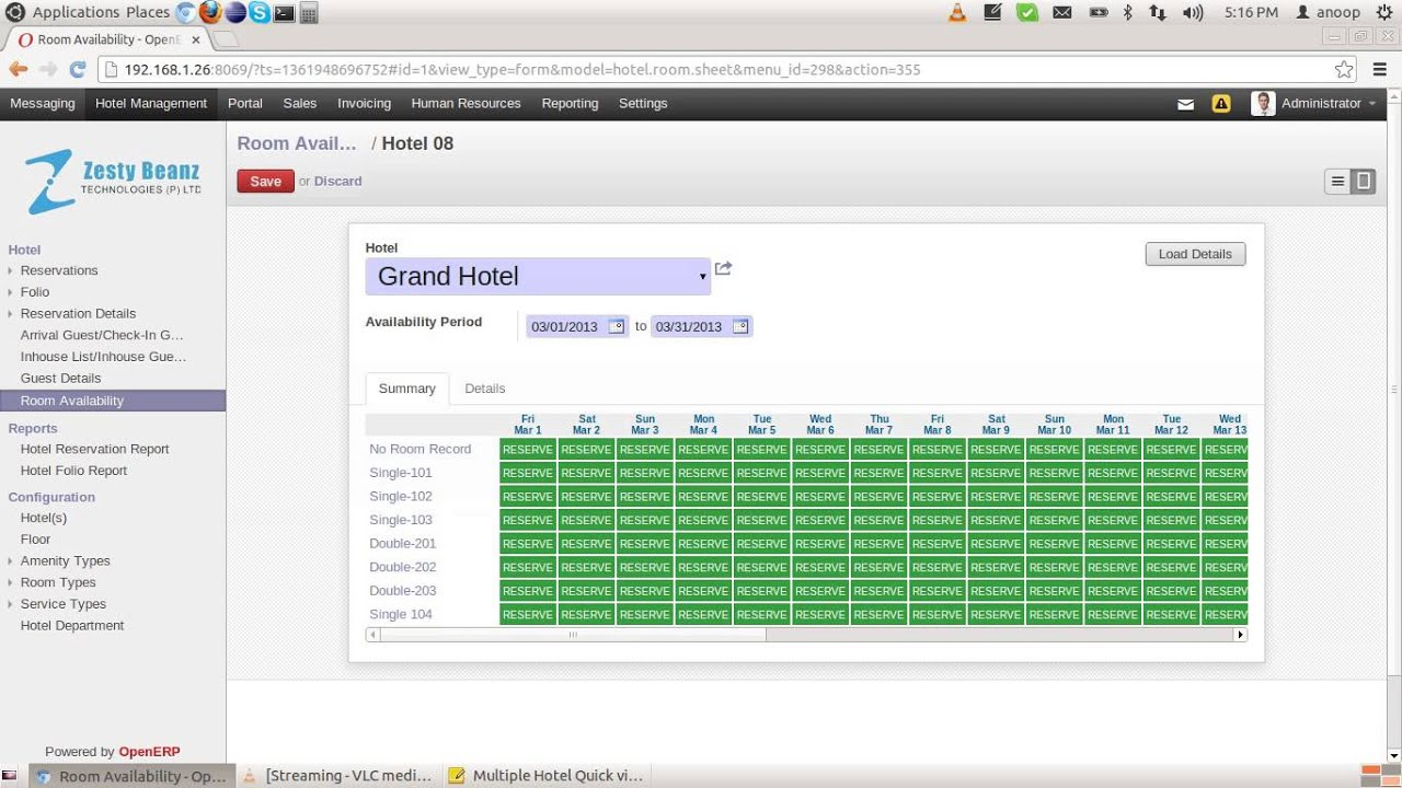 availability template excel - multiple hotel quick view room availability and