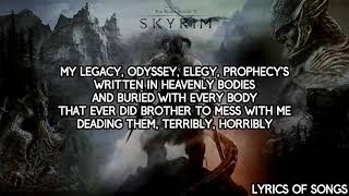Mix - Dan Bull - Skyrim Epic Rap (Lyrics)