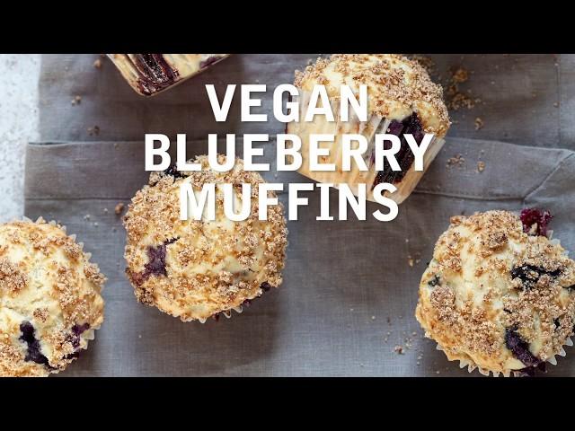 VEGAN BLUEBERRY STREUSEL MUFFINS | Vegan Richa