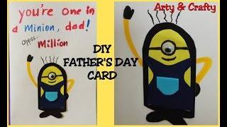 FATHERS DAY CARD IDEA#FATHERS DAY MINION CARD#MINION#EASY CRAFT#HANDMADE CARD#GIFT IDEA FOR DAD