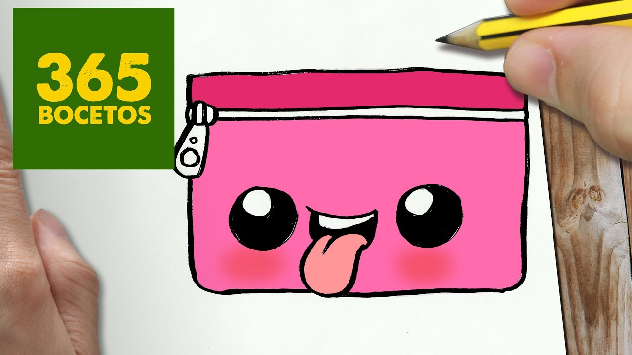 COMO DIBUJAR ESTUCHE KAWAII PASO A PASO , Dibujos kawaii faciles , How to draw a ESTUCHE , YouTube