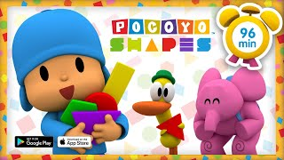 🔵 POCOYO in ENGLISH - Learn Geometric shapes [96 min] | Full Episodes | VIDEOS and CARTOONS for KIDS