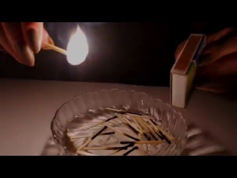 ASMR Match Lighting ♡  Extinguishing, Fire Crackling,Tapping, Glass Sounds, Candles