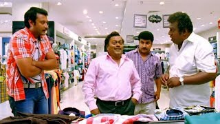 Sadhu Kokila Funny Scene in Saree Shop | Darshan | Brundavana Kannada Movie Comedy Scene