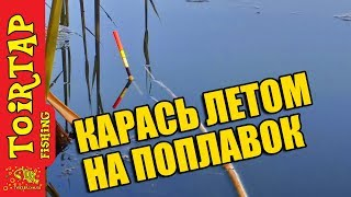 Рыбалка. Ловля карася на поплавок. Лето 2017. TOIRTAP