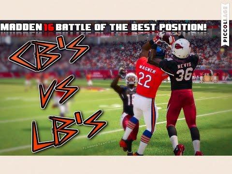 TEAM OF ALL CORNERBACKS vs TEAM OF ALL LINEBACKERS - Madden 16 Battle of the Best Position