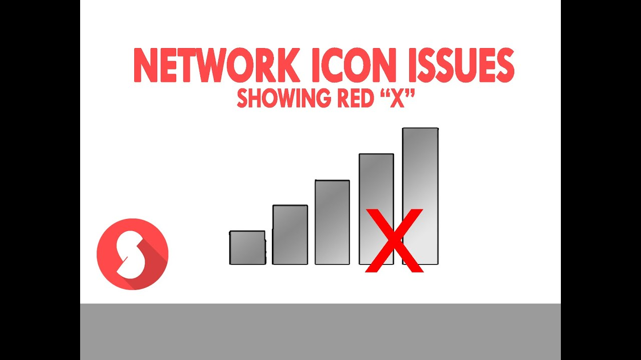 Fixed Network Icon Wifi Issues Red X Youtube