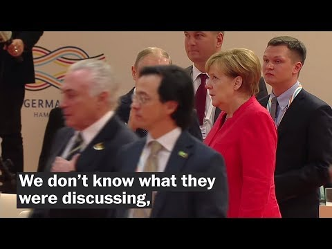 Watch Angela Merkel's viral eye-roll