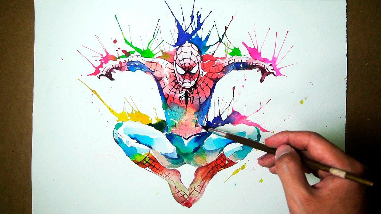 Hulk 3d Live Wallpaper Marvel Spider Man Watercolor Blowing Technique Jayart