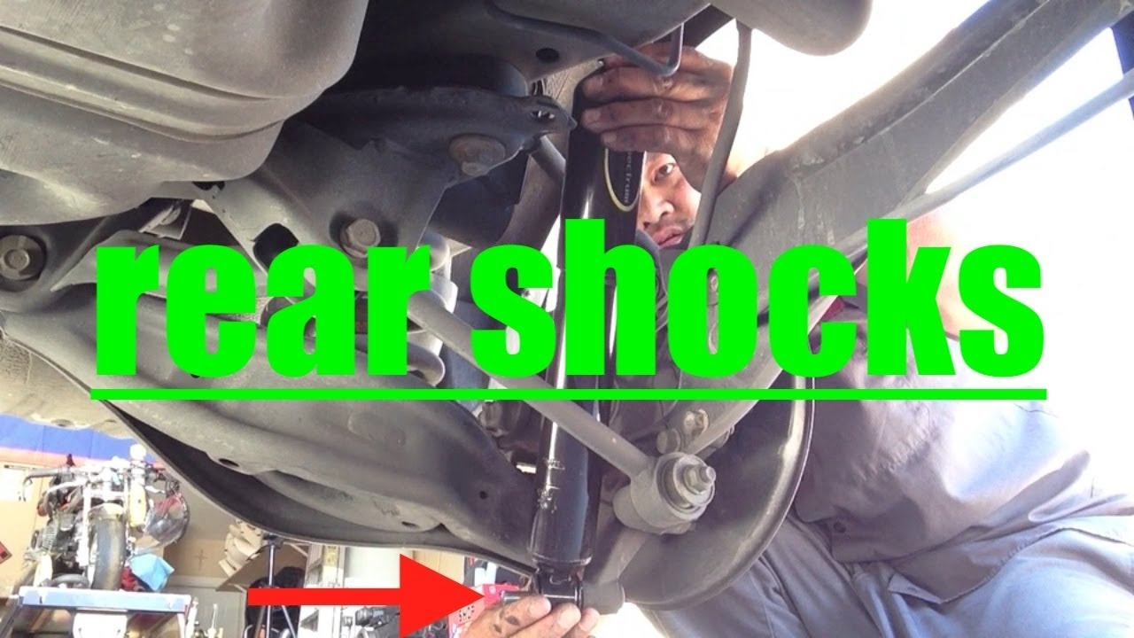 small resolution of easy rear shocks replacement honda odyssey fix it angel 2006 honda odyssey suspension diagram