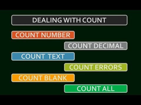 ExcelLearn !! Count Text, Number, Errors and Decimal values in Hindi !! Excel Video !!