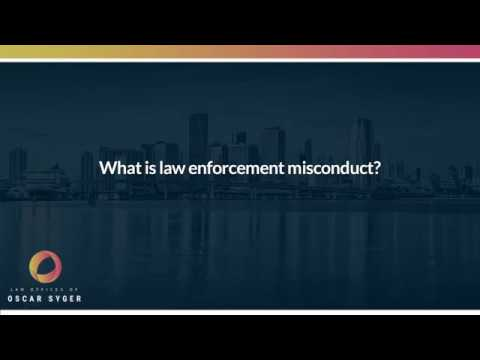 What is law enforcement misconduct?