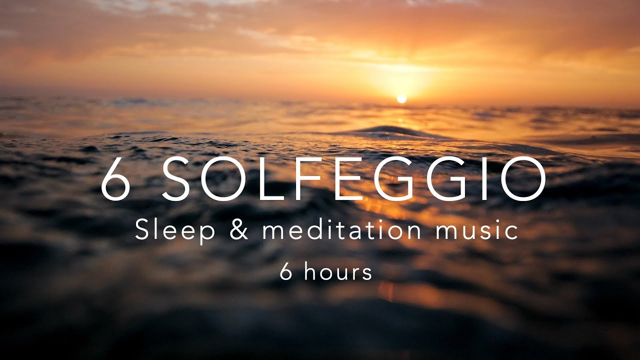 All 6 Solfeggio Frequencies⎜HEALING TONES ⎜6 Hours Sleep Meditation Music